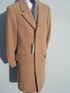 Mens Classic Stylish Camel Coat Overcoat Sizes 36, 38, 40, 42, 44, 46, 48, 50, 52: Amazon.co.uk: Clothing