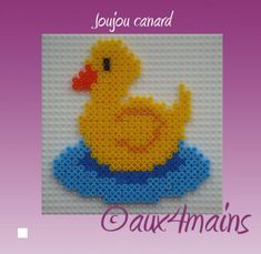 Duck hama perler by aux4mains