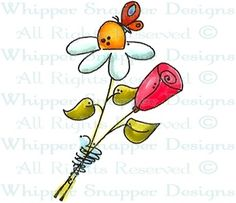 Butterfly Blooms - Whimsical - Floral/Garden - Rubber Stamps - Shop