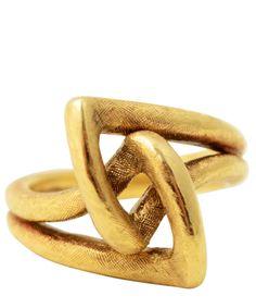 Gold | ゴールド | Gōrudo | Gylden | Oro | Metal | Metallic | Shape | Texture | Form | Composition | Modernist Knot Ring,  Cartier, ca. 1960's