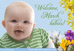 Bring on March! and all beautiful babies to be born this month of Vernal Equinox (Spring). March's birthstone is the aquamarine and flower is the daffodil.