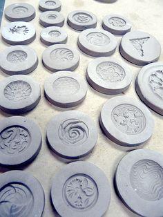 Пуговицы (заготовки для пластика) Making molds | Nancy Adams | Flickr