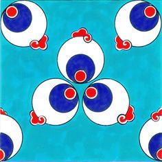 Cintemani Tiles C004Tile Sizes: 12x12 cm - 20x20 cm - 23,5x23,5 cm - 29,5x29,5 cm - 41,5x41,5 cm