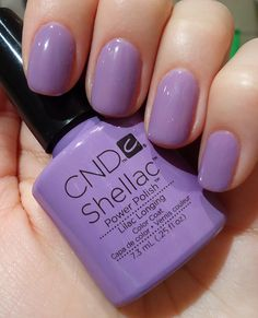 CND Shellac Lilac Longing I love this color!