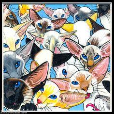 LTD. EDIT  SIAMESE CAT PAINTING  PRINT SUZANNE LE GOOD