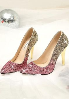 Available Sizes : Heel Height : Heel Height : High Heel Type : Stiletto Boot Shaft : Ankle Color : Pink Toe : Point Shoe Vamp : PU Leather Closure : Slip-On/Pull-On Lace High Heels, Glitter High Heels, Silver High Heels, Womens High Heels, Tommy Shoes, Prom Shoes Silver, Shoe Vamp, Beautiful High Heels, Baskets