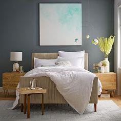 Roar + Rabbit Pleated Bed - Luster Velvet