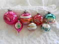 vintage glass ornaments on etsy