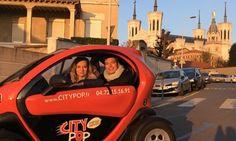 City Pop à Lyon : Un tour de Lyon de 2h en voiture électrique: #LYON 39.00€ au lieu de 70.00€ (44% de réduction)