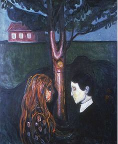 "amazing story about this painting by munch. ""eye in eye"""