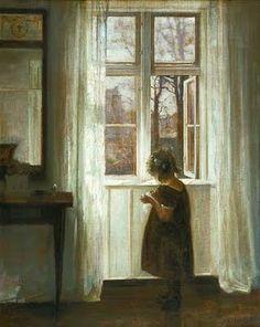 Carl Vilhelm Holsøe (1863-1935) - Girl Standing on a Balcony - Google Search