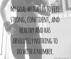 Focus on health and forget about the number.