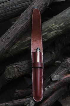 Leather Pen Case Cordovan Veg. Tan. $35.00, via Etsy.