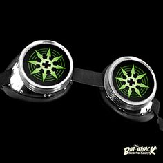 Cyber Goggles Green Chaos Star