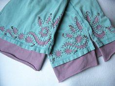 Reverse Applique pants