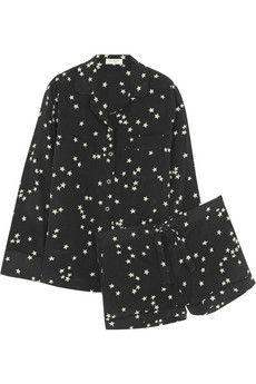 Equipment Lilian star-print washed-silk pajama set | NET-A-PORTER