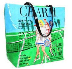 NEW NWT Kate Spade Charm Magazine Tennis Daycation Bon Shopper Purse Bag $178