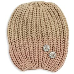 77ec40ba878 Echo Knit Embellished Beanie ( 39) ❤ liked on Polyvore featuring  accessories