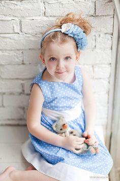 """Купить Ободок для волос """"Зимняя Сказка"""" - ободок для волос, ободок с цветами, ободок с розами, голубой"""