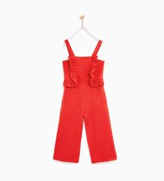 LONG JUMPSUIT WITH FRILL-NEW IN-GIRL | 4 - 14 years-KIDS | ZARA Hungary
