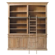 ll➤Bookcases on ✅ Maisons du Monde. Take a look at all the furniture and decorative objects on Maisons du Monde. Solid Oak Bookcase, Pine Bookcase, Large Bookcase, Bookshelves, Affordable Furniture, Unique Furniture, Furniture Decor, Kitchen Extension Family Room, Weathered Oak