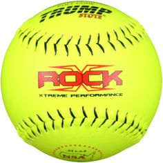 Trump® X-ROCK-NSA-RP-Y The Rock® Series 12 inch Yellow Composite Leather Softball with NSA Logo (Sold in Dozens) - http://www.closeoutball.com/softball-closeout-sale-discount-free-shipping/trump-x-rock-nsa-rp-y-the-rock-series-12-inch-yellow-composite-leather-softball-with-nsa-logo-sold-in-dozens/