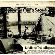 Coleman camp stove, just like the one we had
