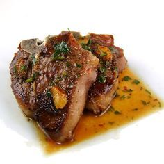 One Perfect Bite: Lamb Chops Sizzled with Garlic