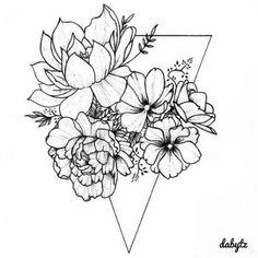 Flowers drawing simple tattoos 61 ideas is part of Thigh tattoos Flower Ring - Thigh tattoos Flower Ring Kunst Tattoos, Neue Tattoos, Tattoo Drawings, Body Art Tattoos, Sleeve Tattoos, Sketch Tattoo, Form Tattoo, Shape Tattoo, Tattoo Arm