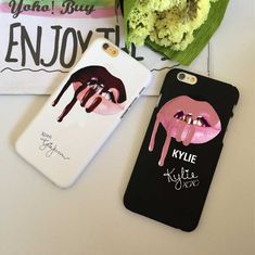 Phone Cases Sexy Girl Kylie Jenner Lips Kiss Cover Cases For iPhone 5 5S SE 6 6S 6Plus 7 7Plus  Protective Back Cover Capa Case