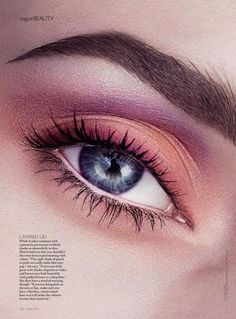 Niki Hajdu by Steven Chee for Vogue Australia April 2014 #eyeshadow #pastel