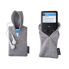 Haha, cute! Hoodie iPod Cover. This might not be hard to make. @Jordan Clare
