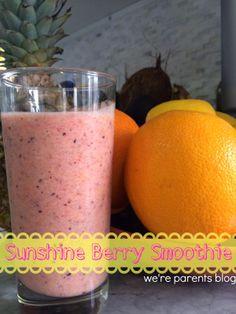 Sunshine Berry Smoothie  strawberry, blueberry, mango, pineapple smoothie