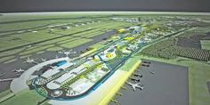 Brisbane Airport Master Plan Competition for a new terminal and runway (out of view) - Google