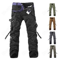 Mens Cargo Pants Multi Pockets Casual Cotton Pants Work Overalls are fashionable and comfortable.Mens Cargo Pants Multi Pockets Casual Cotton Pants Work Overalls cheap and fine. Best Cargo Pants, Army Cargo Pants, Slim Fit Cargo Pants, Camouflage Cargo Pants, Military Pants, Military Army, Military Camouflage, Combat Pants, Men Trousers