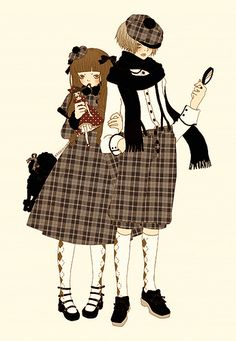 could be hansel and gretel a few years after the witch lol