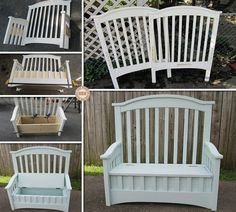 DIY Old Crib Turned Into Bench