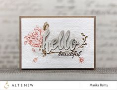 Inspired from nature, and drawn in a loose style, this set has many beautiful possibilities! Each floral image is large enough to be the focal image of your project, but can also be stamped repeatedly