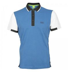Hugo Boss Green Pedro Polo Shirt Blue