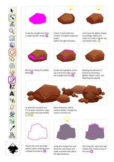 Gamasutra: Chris Hildenbrand's Blog - Rocks - quick and easy - 2D art in inkscape