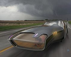 Futuristic Car, Family vehicle concept by Nick Pugh
