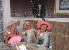 Ladies having tea at Hart Sisters TeaRoom!
