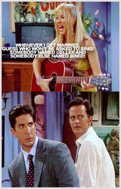 Somebody named Geller and somebody else named Bing! #friends
