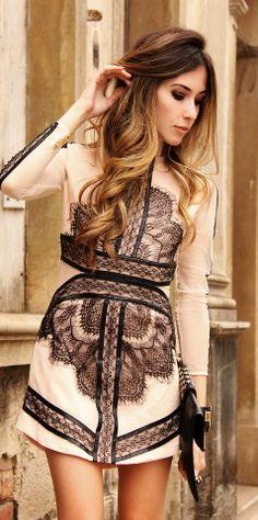 #beige eyelash mesh dress http://rstyle.me/n/hx4zqqcde
