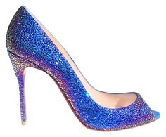 Christian Louboutin Sexy Strass Swarovski Crystal Peep Toe Stiletto Blue Pumps. Get the must-have pumps of this season! These Christian Louboutin Sexy Strass Swarovski Crystal Peep Toe Stiletto Blue Pumps are a top 10 member favorite on Tradesy. Save on yours before they're sold out!
