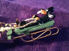 Blk/tan on a green sled