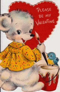 Vintage 1950s Hallmark Please Be My Valentine by poshtottydesignz