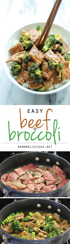 Easy Beef and Broccoli - The BEST beef and broccoli made in just 15 min. And yes, it's quicker, cheaper and healthier than take-out! #VIVRI #healthy #nutrition