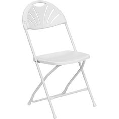 Polypropylene Folding Chair- Fan Back. Availability: In Stock. Minimum order of 30. This all-purpose polypropylene folding chair is an affordable option for weddings and events. Polypropylene Seat and Back. Indoor and Outdoor Use. Dual Support Rivet Rails on Seat for Added Strength. Contoured Back and Seat. Ventilated Fan Back Design Lightweight. Easily Nests for Stacking.