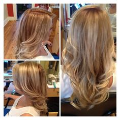 Dark Blonde with balayage highlights